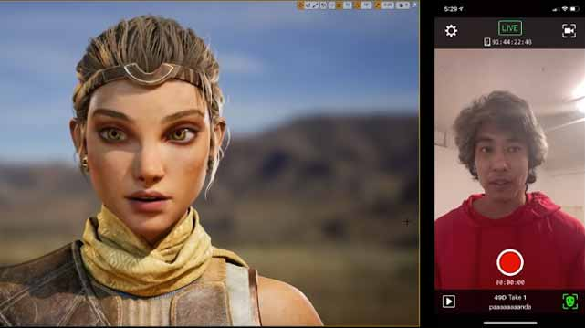 Unreal Engine iphone facial capture